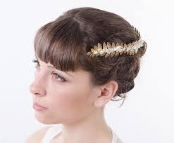 goddess headband golden leaf grecian headband goddess headband crown laurel