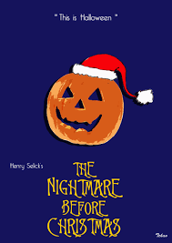 the nightmare before christmas minimalist poster by tchav on