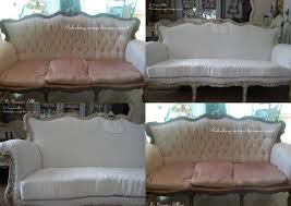 canapé romantique relooking d un canapé baroque en un canapé totalement shabby chic