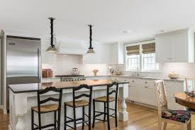 kitchen island overhang kitchen traditional with shaker