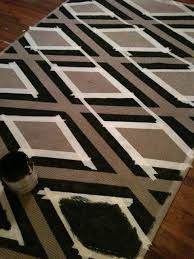Painting A Jute Rug Diy Painted Faux Kilim Rug Apartment Therapy