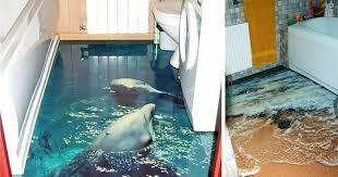 3d ocean floor designs 3d floors turn your bathroom into an ocean bored panda
