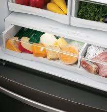 ge glass door refrigerator ge pfe28k 36 inch french door refrigerator with twinchill turbo