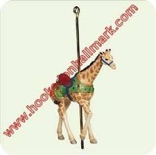 2005 carousel ride proud giraffe hallmark ornament at hooked on