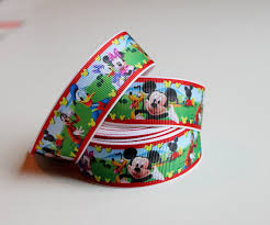 mickey ribbon ribbon by the yard mickey mouse clubhouse style grosgrain ribbon