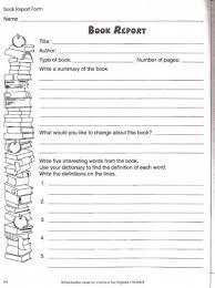 book report worksheet lovetoteach org free printable worksheets