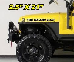 zombie hunter jeep the walking dead hood decals for jeep u2013 my windshield banner