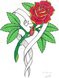 rose heart banner tattoo designs the best banner 2017