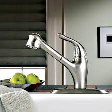 lakeland 1 handle pull out kitchen faucet american standard