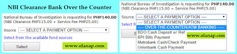 nbi clearance payment options complete and updated 2017 olanap com
