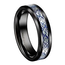 cheap promise rings for men queenwish 6mm black tungsten carbide ring silvering celtic