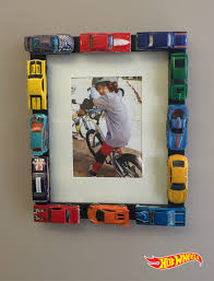 customize your own picture frame using wheels cars with this