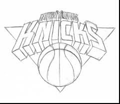 good new york knicks logo coloring pages with nba coloring pages