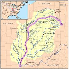 Physical Map Of South America Rivers by Wabash River Wikipedia