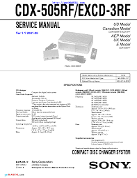 cdx c5000x manual 100 images sony cdx c680 cdx c780 service