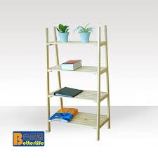 wood shelves ikea ikea style four story wood shelf ladder rack kitchen storage