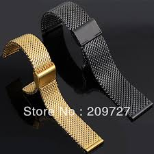 black strap bracelet images New lug width 18mm 20mm 22mm 24mm stainless steel black gold watch jpg