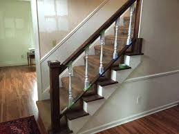 Spindle Staircase Ideas Stair Railing Spindles Painting On Stairs How To Paint Staircase
