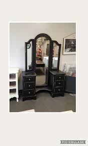 vintage vanity table with mirror and bench pick up only vintage vanity with mirror and bench french france