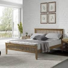 Wooden Bed Frame Double by Wooden Beds Wayfair Co Uk