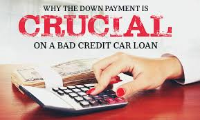 nissan finance overnight address why the down payment is crucial on a bad credit car loan