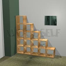 Free Wooden Shelf Plans by Stair Bookcase Woodself Free Plans For Woodworking