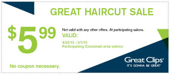 haircut specials at great clips great clips 5 99 haircut sale