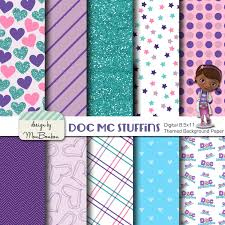 Doc Mcstuffins Home Decor Disney Jr Doc Mcstuffins Inspired 8 5x11 A4 Digital Paper