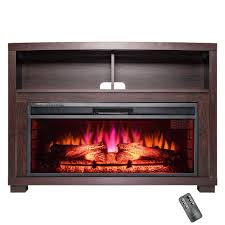 Freestanding Electric Fireplace Akdy 44 In Freestanding Electric Fireplace Insert Heater In Black