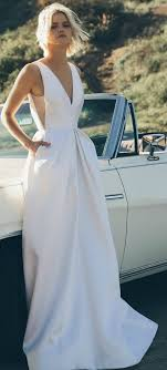 modern wedding dress picture of modern wedding dress with pockets made from couture