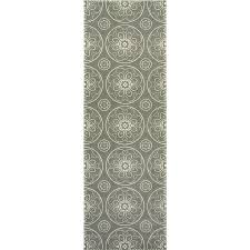 Gray Green Rug Shop Allen Roth Chatterly Gray Rectangular Indoor Machine Made