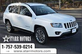 jeep compass white 2017 jeep compass sport se sport utility in suffolk h122