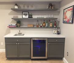 How To Finish Unfinished Cabinets Finally Finished Basement Bar Unfinished Cabinets Ikea