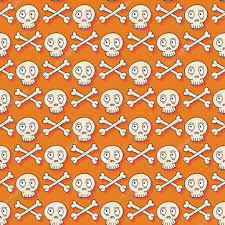 skull wrapping paper happy seamless pattern with skulls trick or
