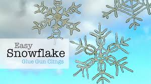 easy snowflake glue gun window clings youtube