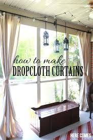 how to prep drop cloth material for outdoor patio porch curtain