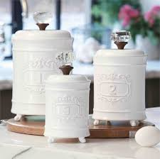 Kitchen Canisters White Ceramic Canister Set In The Kitchen Choosing The Best