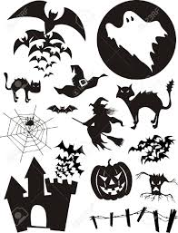 halloween free clipart set of trditional halloween design elements bats pumpkin witch