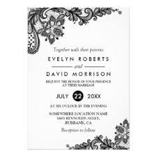 wedding invitations black and white black white lace wedding invitations announcements zazzle