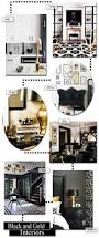 Black White And Gold Home Decor by 61 Best Black U0026 Gold Interiors Images On Pinterest Home