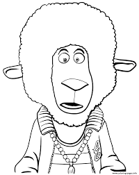 eddie noodleman sheep from sing animation coloring pages printable