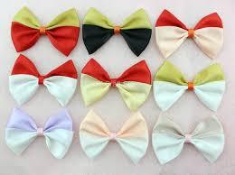 satin ribbon bows 50pcs lot two tone satin ribbon bows black for hair dresses