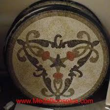 elegante 24 polished mosaic floor medallion medallionsplus com
