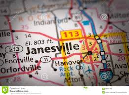 Janesville Wi Map Janesville Wisconsin On Map Stock Photo Image 88845165