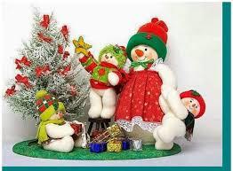 bonecos de neve com moldes craft