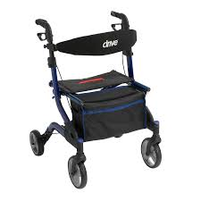 senior walkers with seat style rollator