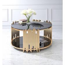 Glass And Gold Coffee Table Round Coffee Tables Accent Tables The Home Depot