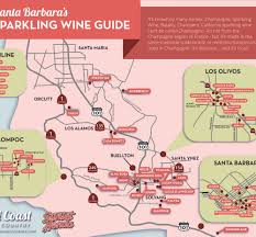 Santa Barbara California Map Santa Barbara Sparkling Wine Guide A Champagne Lover U0027s Map