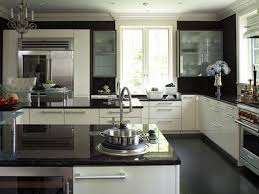 Rectangular Kitchen Design by Painted White Kitchen Cabinets Flower Bud Shape Island Light