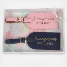 and groom luggage tags honeymoon bound luggage tag set of 2 by the paisley box wedding